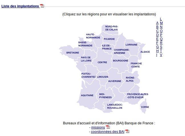 Liste Compl U00e8te Des Agences De La Banque De France Par Ville