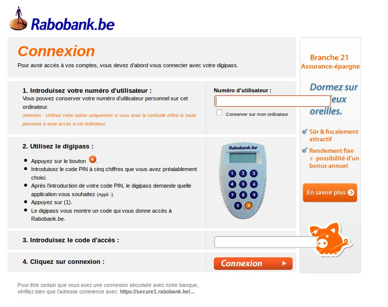 comment avoir acc s son compte en banque pour rabobank belgique. Black Bedroom Furniture Sets. Home Design Ideas