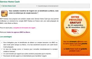 avis sur le service home cash bnp