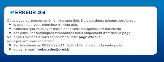 Bred.fr page non trouvée