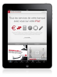 Application Caisse épargne ipad