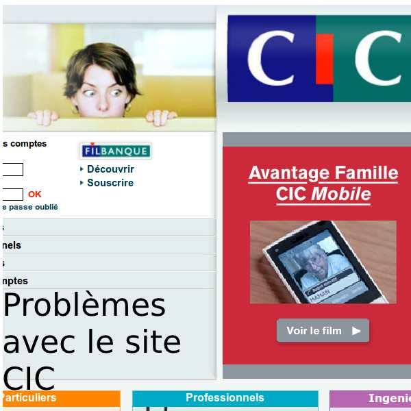 Problème Filbanque CIC