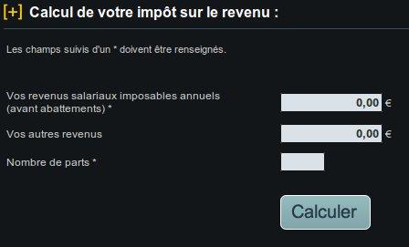 Calcul impots revenus