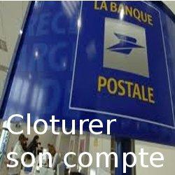cloturer compte banque postale