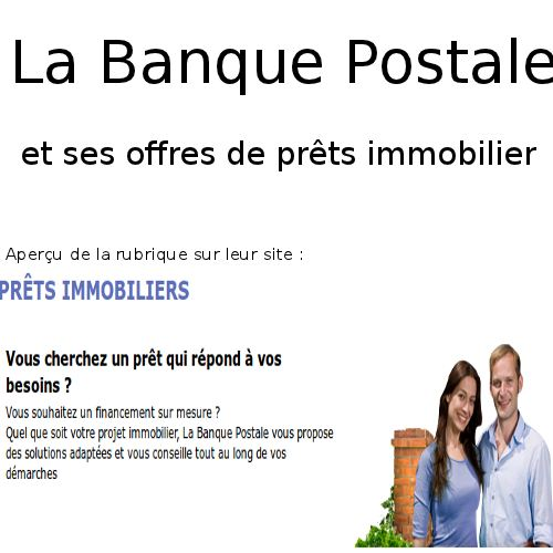 Banque Postale Simuler Un Pret Immobilier Simulation De Credit