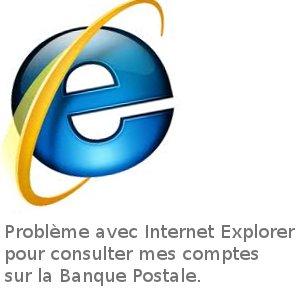 Internet explorer et la banque postale