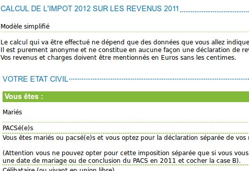 Simulateur d'impots officiel et simple
