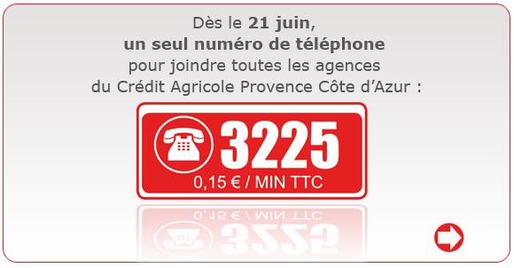 Numéro de téléphone credit agricole PACA