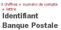 Identifiant banque postale