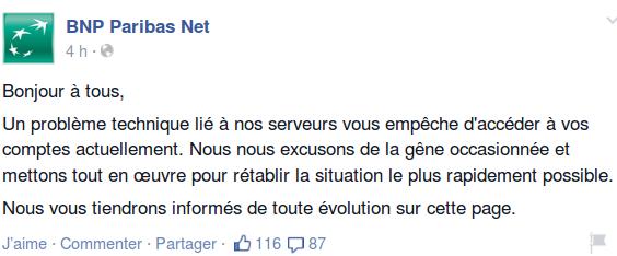 BNP sur Facebook