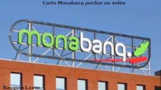 Perte ou vol carte Monabanq