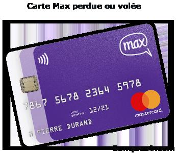 Perte ou vol carte Max