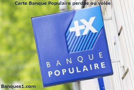 Perte ou vol carte banque populaire