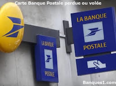 Perte ou vol carte banque postale