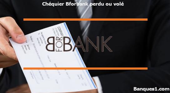 perte ou vol chéquier bforbank