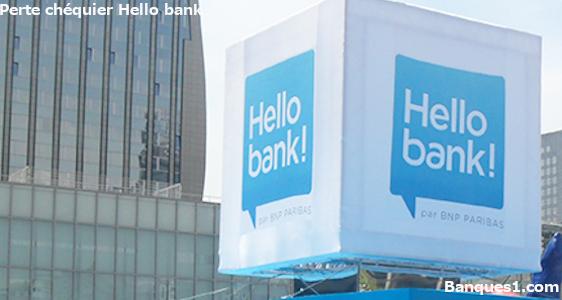 perte ou vol chéquier hello bank