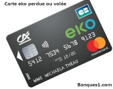 carte eko perdue ou volée
