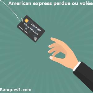 Perte ou vol carte American Express