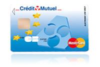 Matercard online pour la banque du credit mutuel