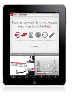 Application Caisse épargne ipad