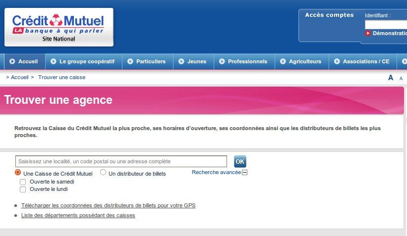 trouver une agence crédit mutuel en France