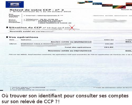 identifiant ccp banque-postale
