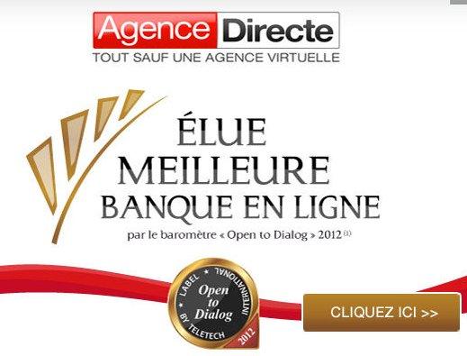 Banque en ligne Agence directe